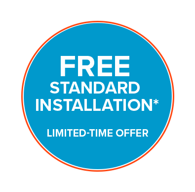 Free standard installation promotion